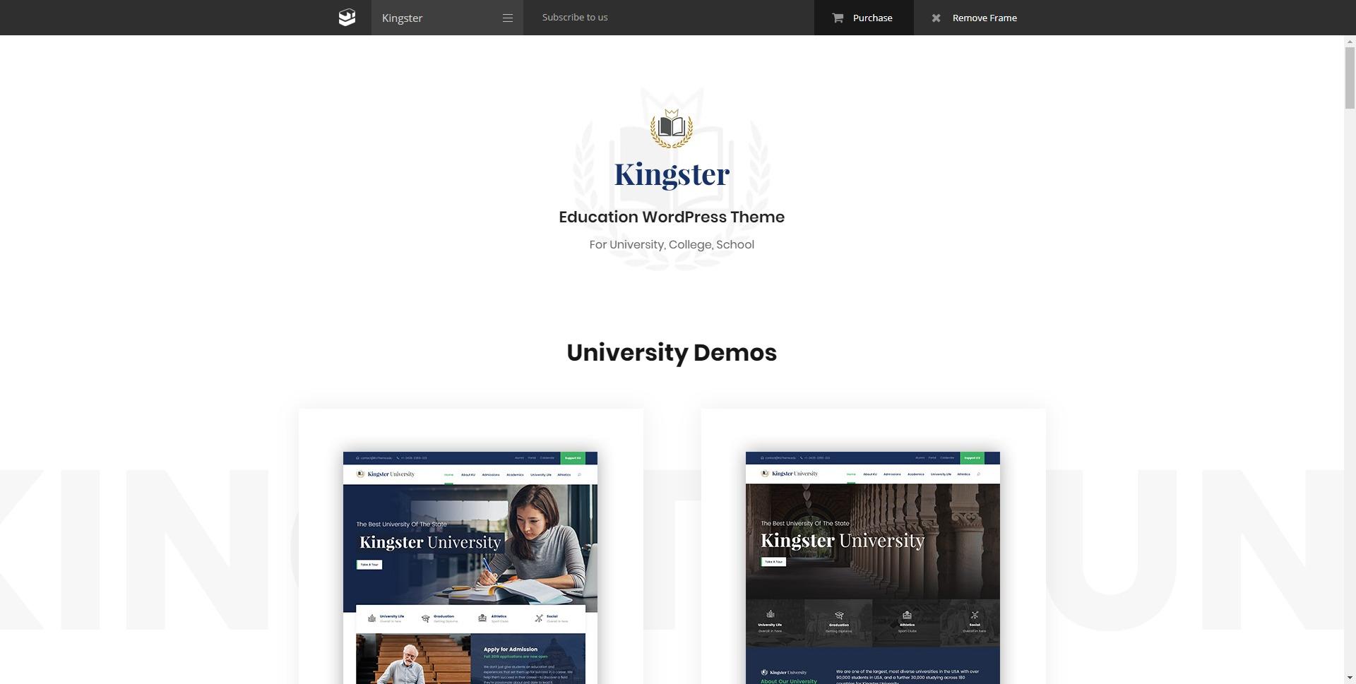 Kingster-在线教育培训学校机构WordPress主题