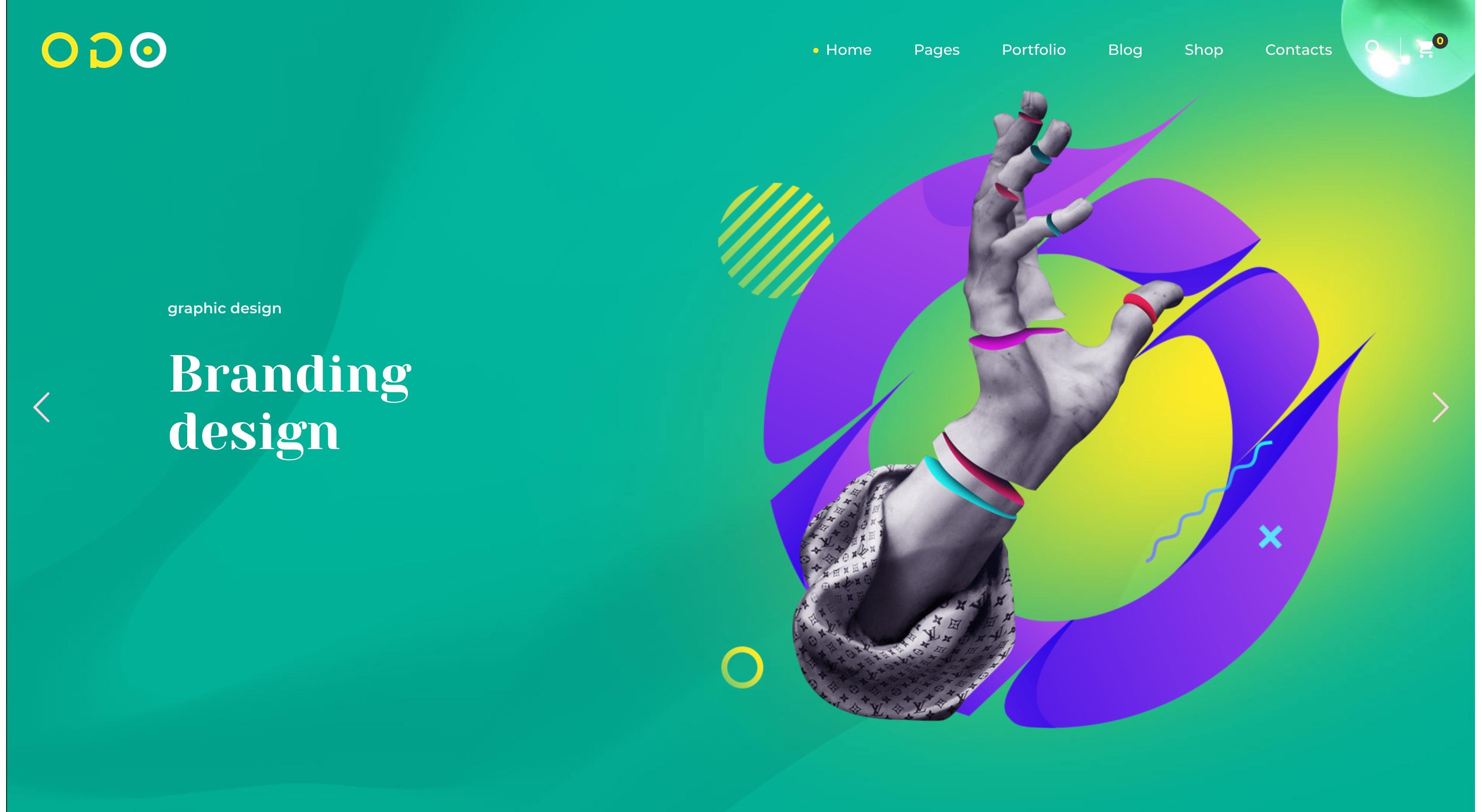 OGO-创意多用途产品展示咨询WordPress主题