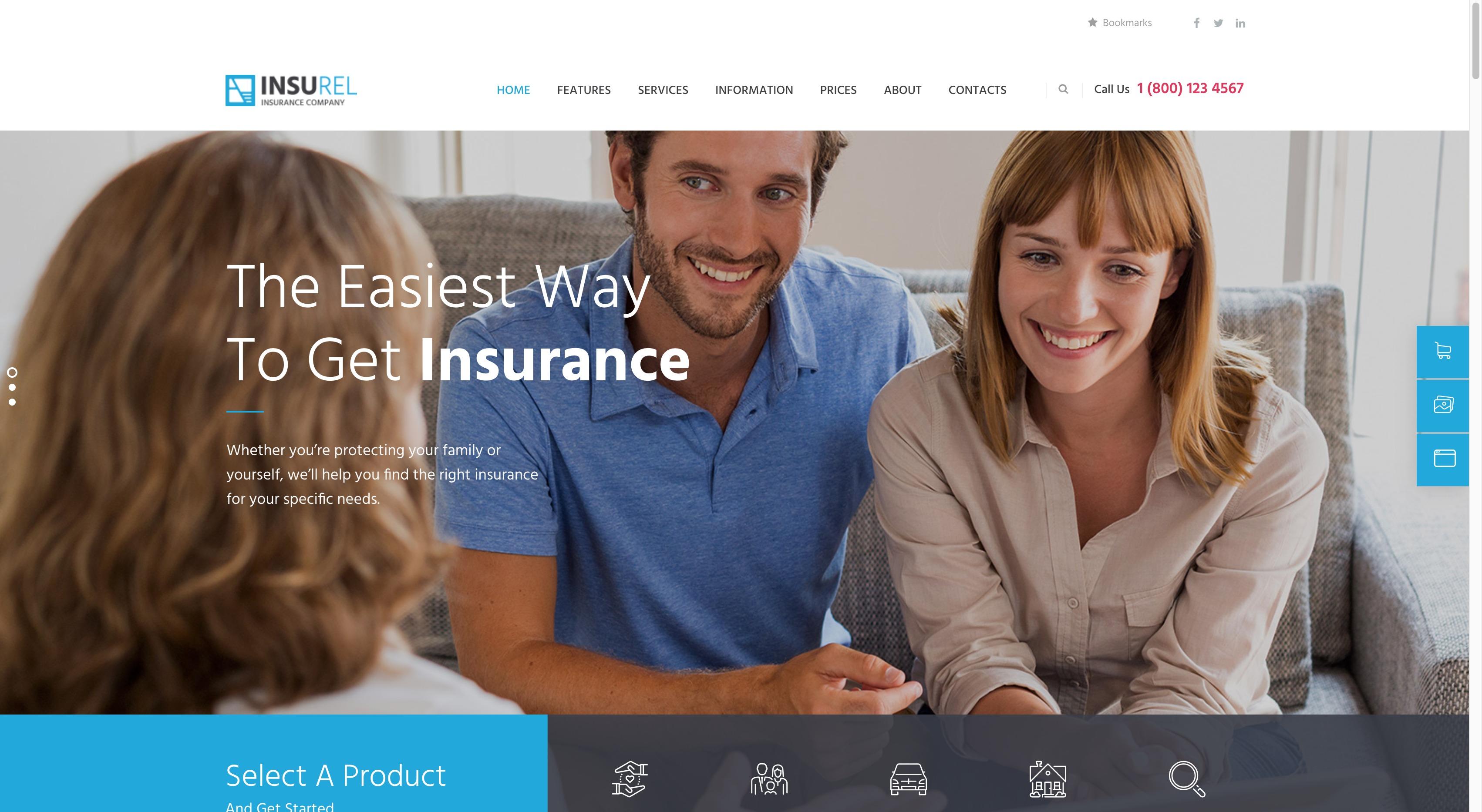 InsuRel-保险金融行业咨询投资WordPress模板