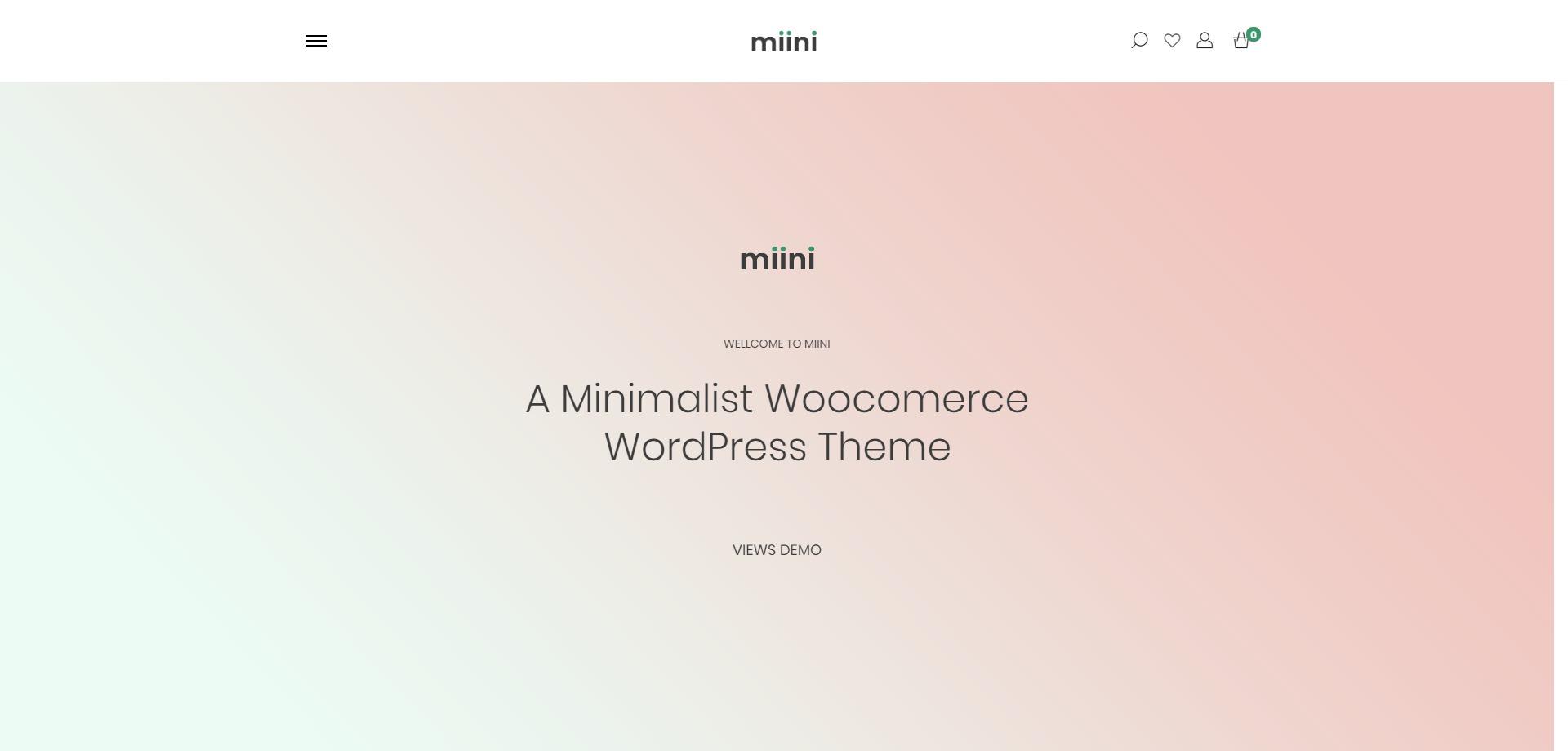 Miini-简约极速电子商务商城WordPress主题