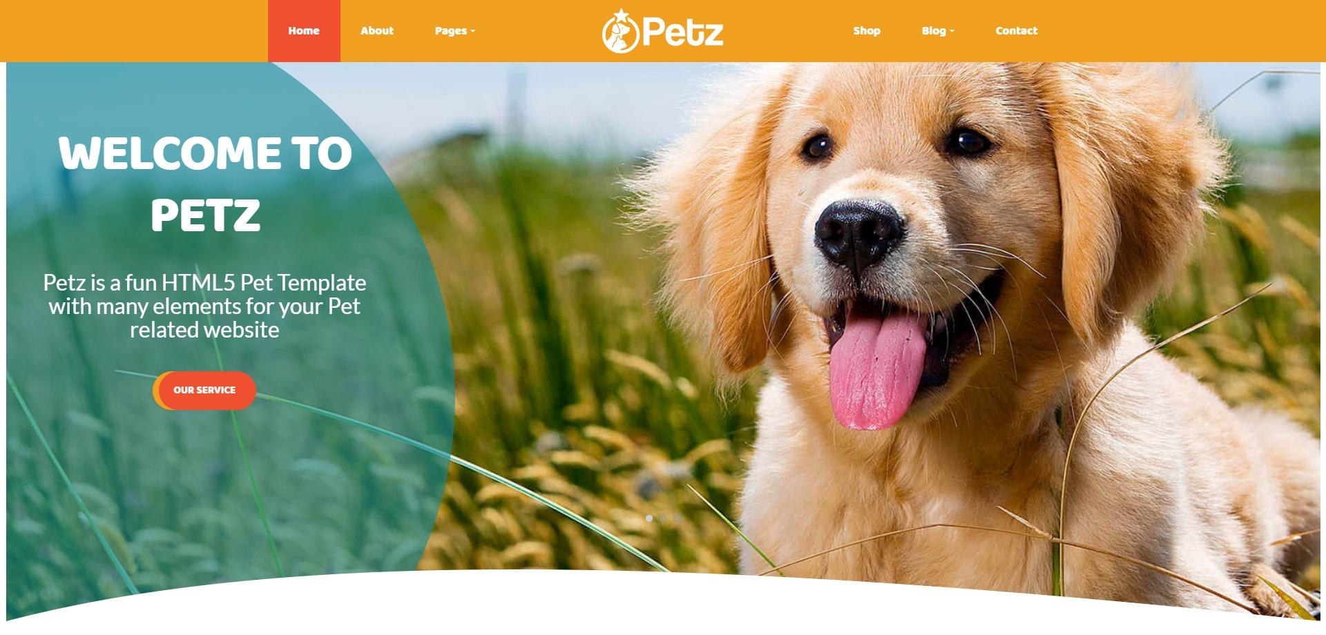 Petz-宠物护理兽医预约在线服务WordPress主题
