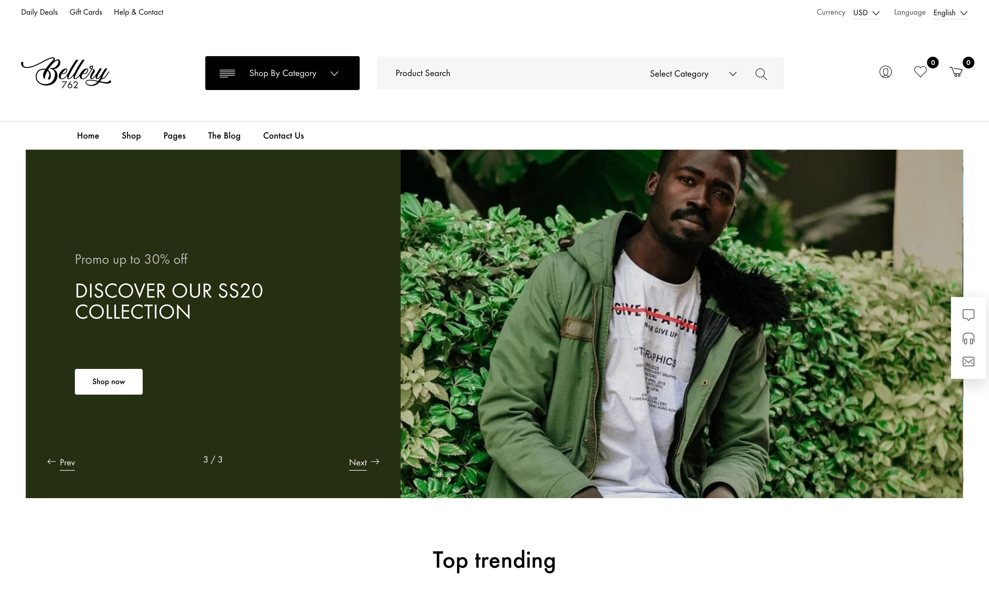Bellery-在线购物服装电商商城WordPress主题