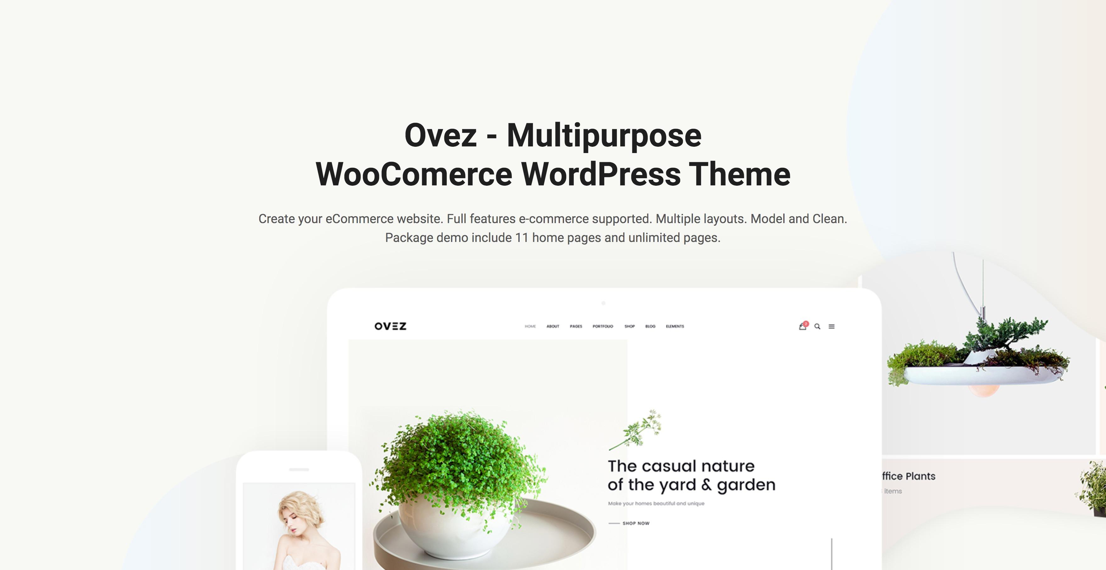 Ovez-极简在线购物商城多行业WordPress主题