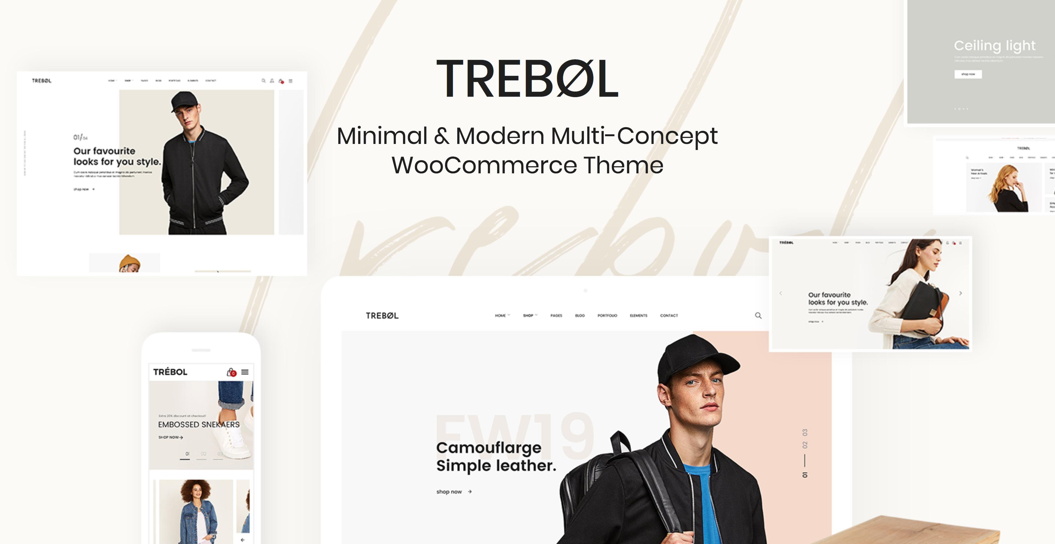 Trebol-现代多行业电商在线商城WordPress主题