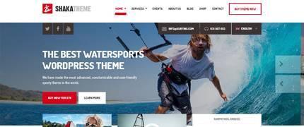 Shaka-水上极限运动冲浪皮划艇WordPress主题