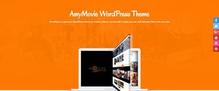 AmyMovie-电影花絮视频剪辑WordPress主题