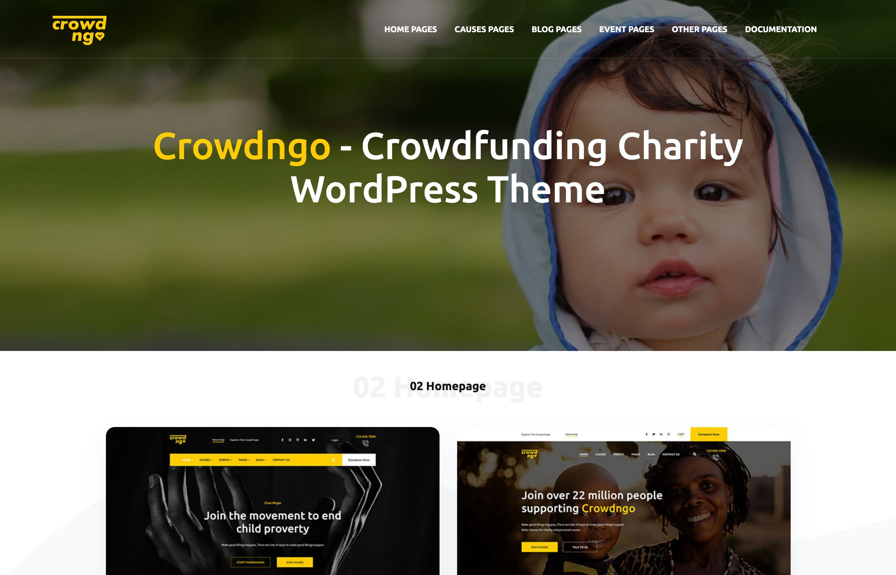 Crowdngo-慈善公益在线众筹捐款WordPress主题