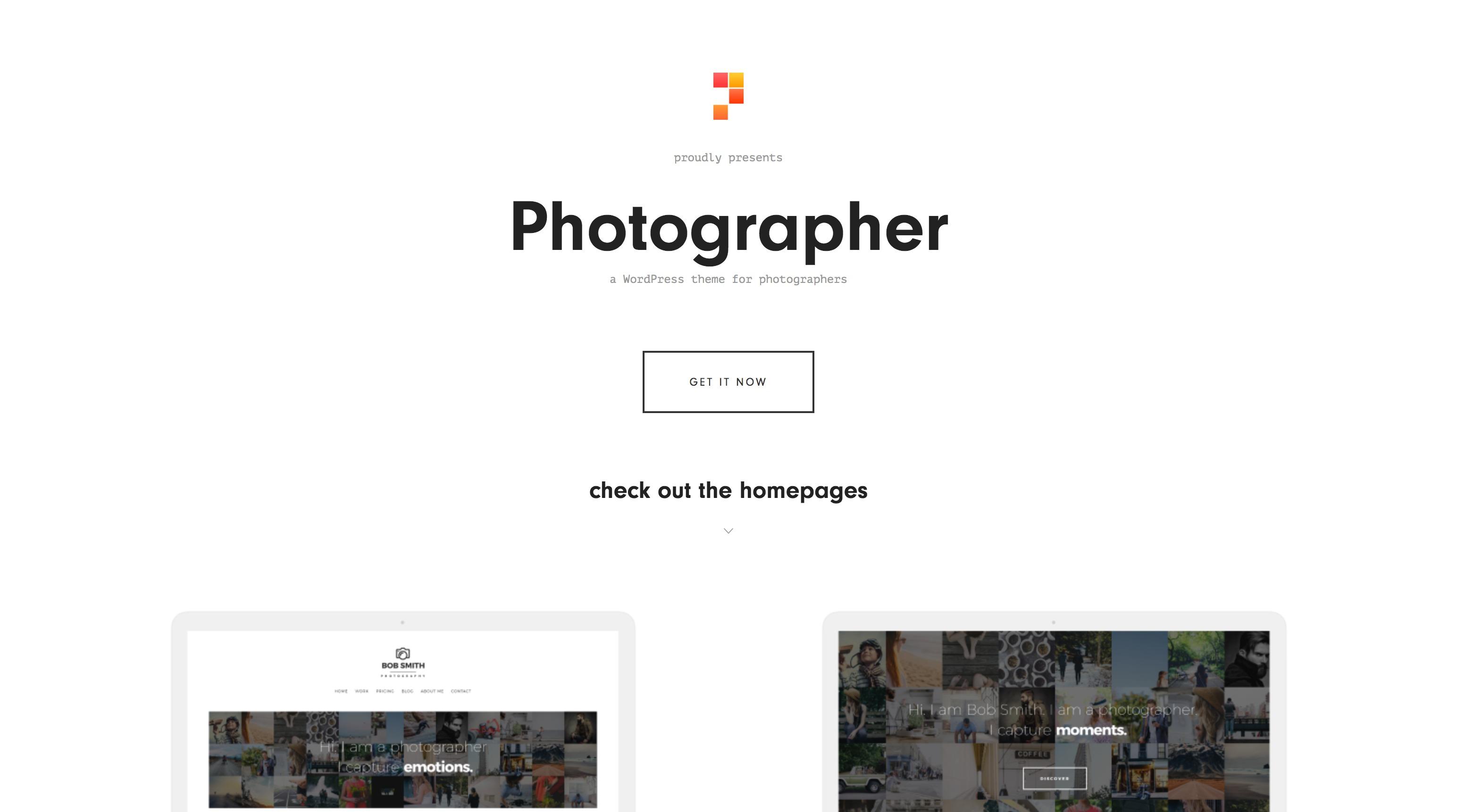 简洁极速摄影师图片博客模板WordPress主题