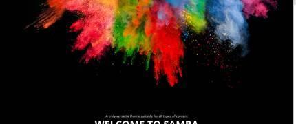 Samba-简洁彩色绚丽网站WordPress主题