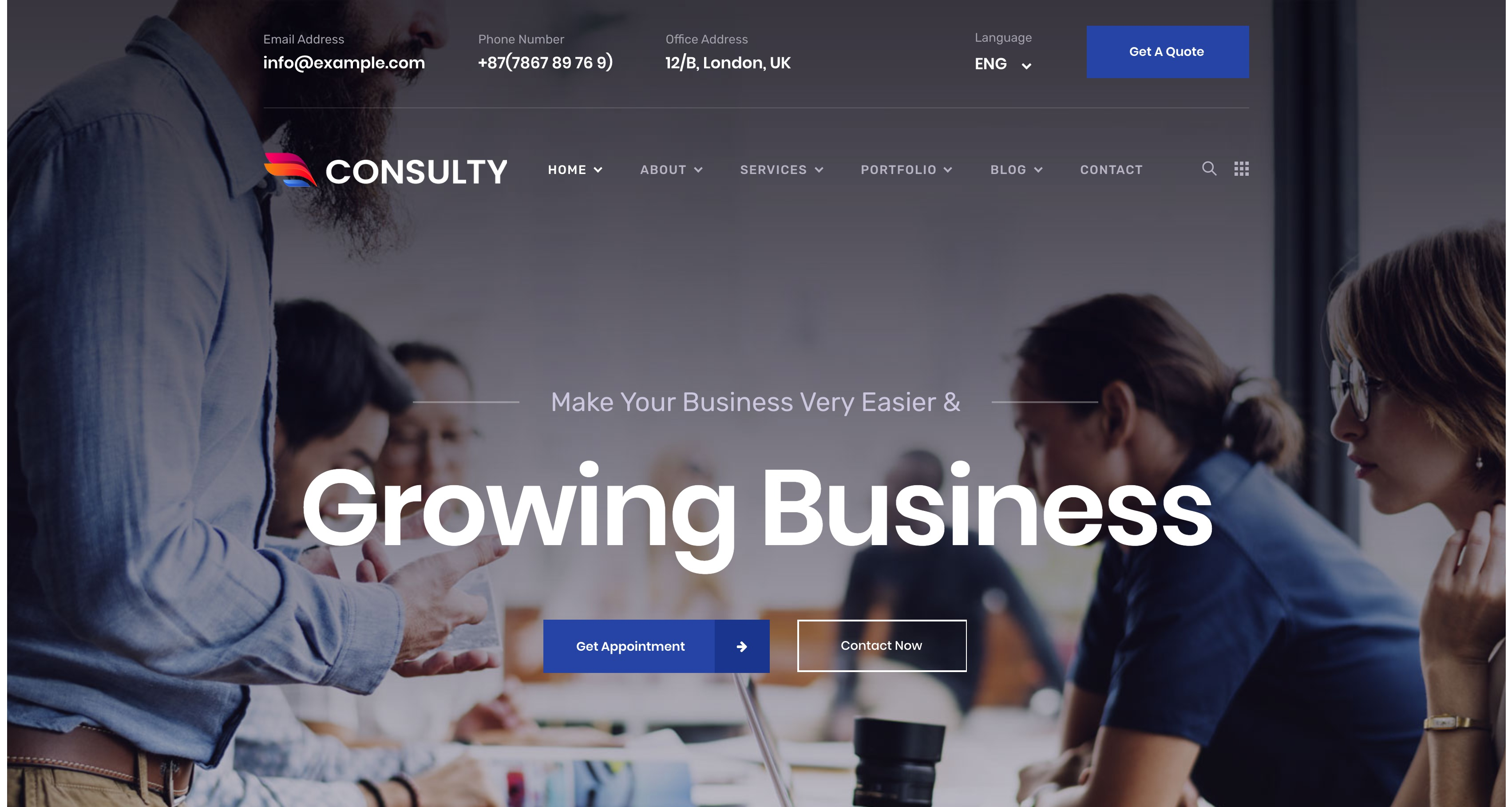 Consulty-商业投资咨询金融保险WordPress主题