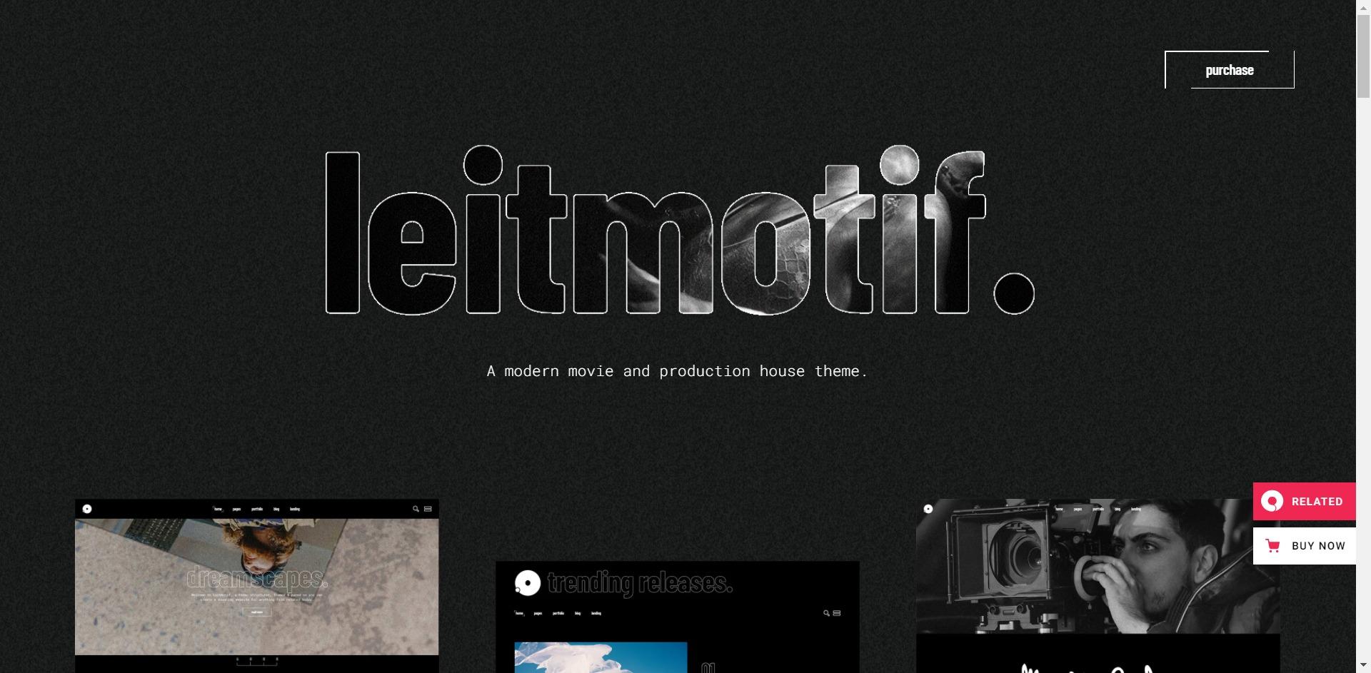Leitmotif - 电影视频剪切编辑主播WordPress主题