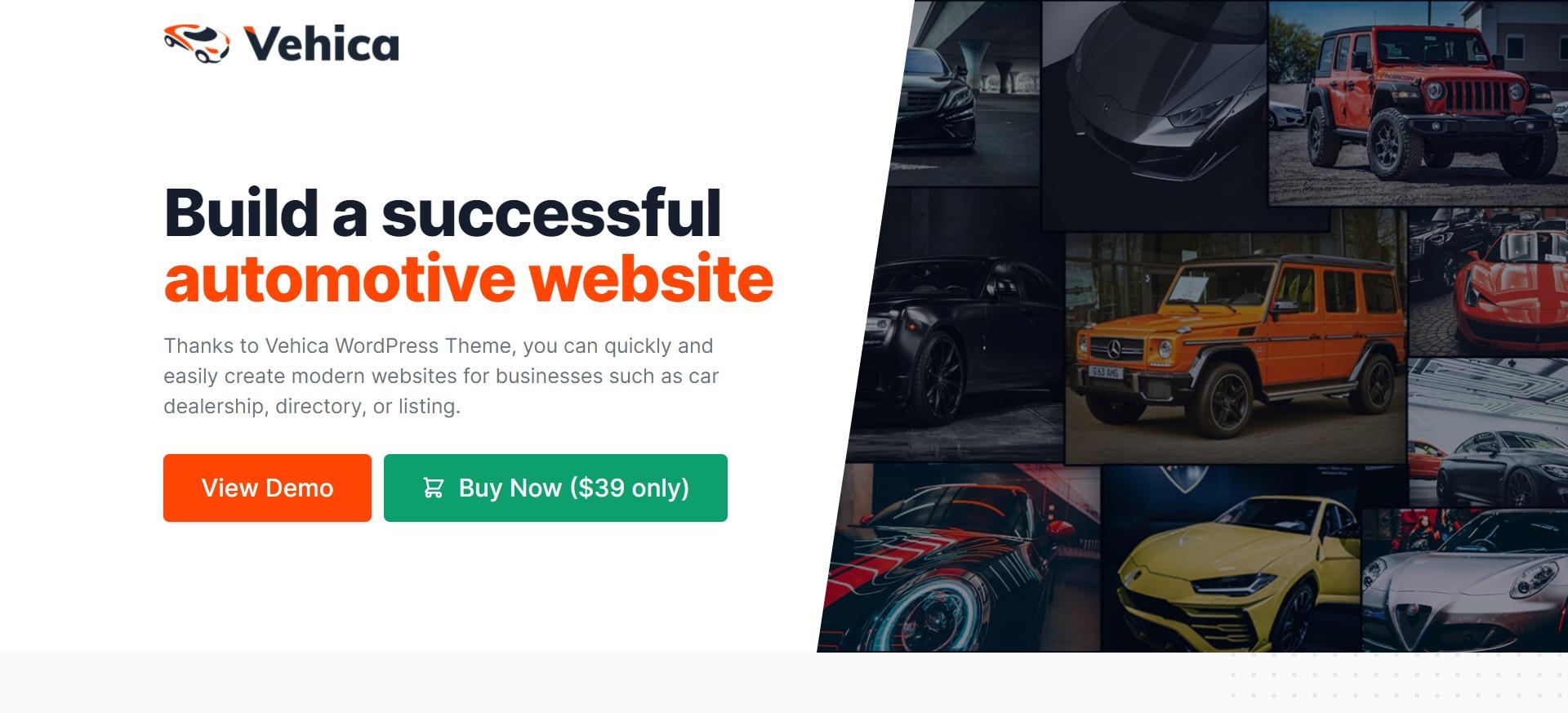Vehica - 汽车销售商家目录黄页资源WordPress主题