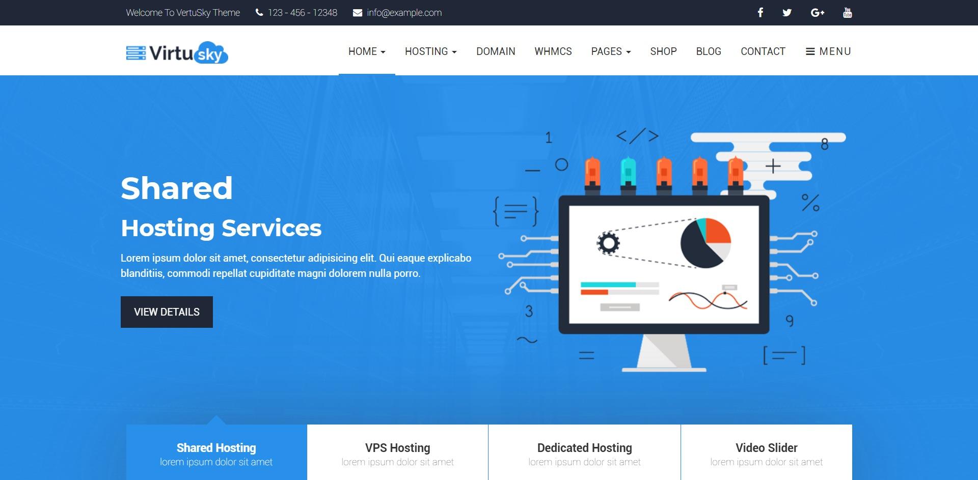 VirtuSky-响应式VPS虚拟主机WordPress主题