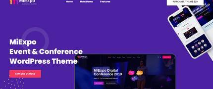 MiExpo-活动会议元素英文WordPress主题