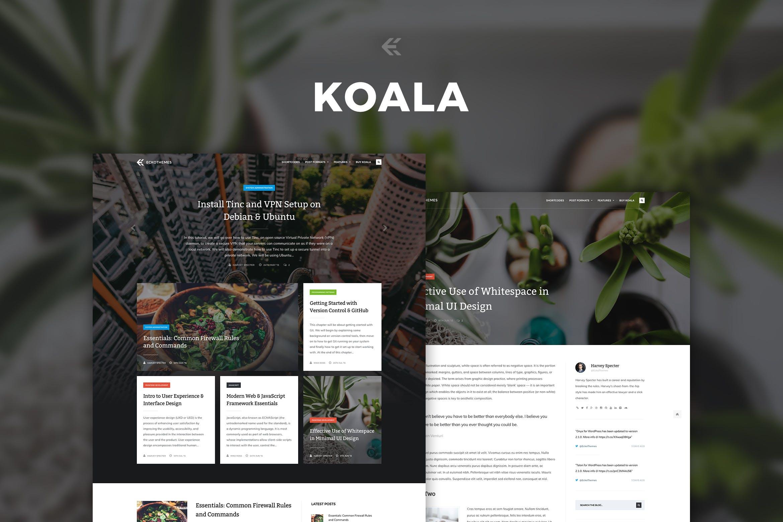 Koala - 响应式WordPress个人博客主题模板