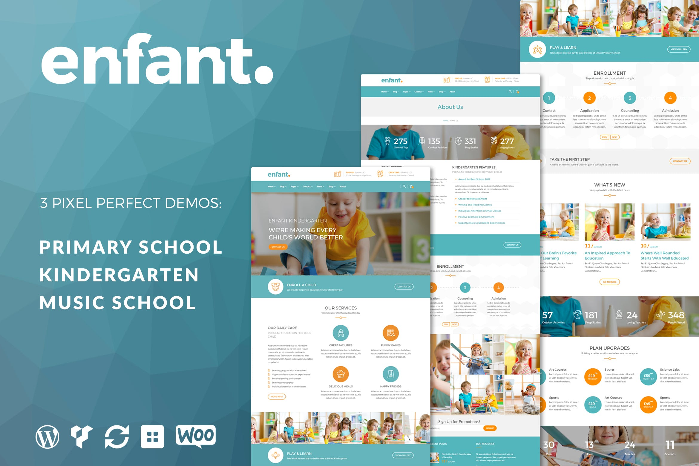 Enfant - 学校和幼儿园文字新闻WordPress主题模板
