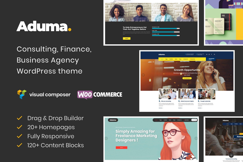 Aduma - 咨询金融商业WordPress主题模板