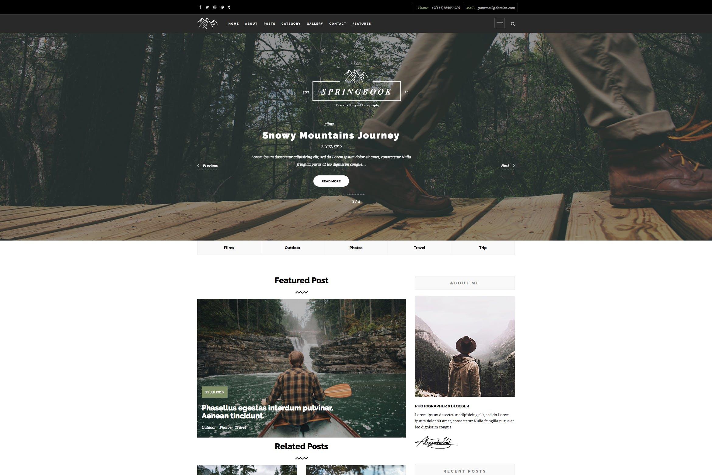 博客旅行摄影图片WordPress主题模板