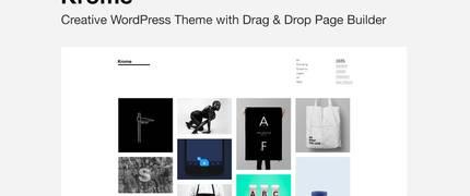 Krome - 极简创意作品集相册WordPress主题模板