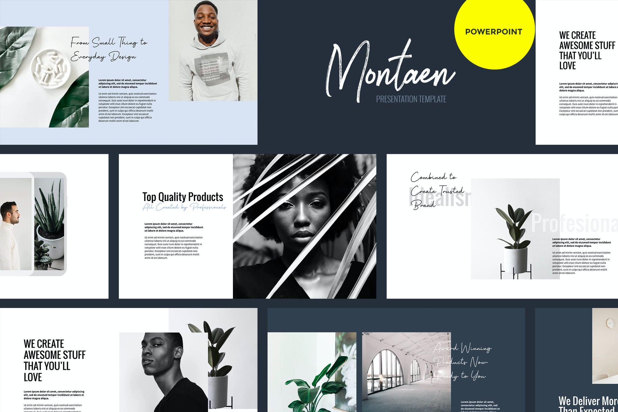 Montaen-公司简介多功能Powerpoint模板PPT模板
