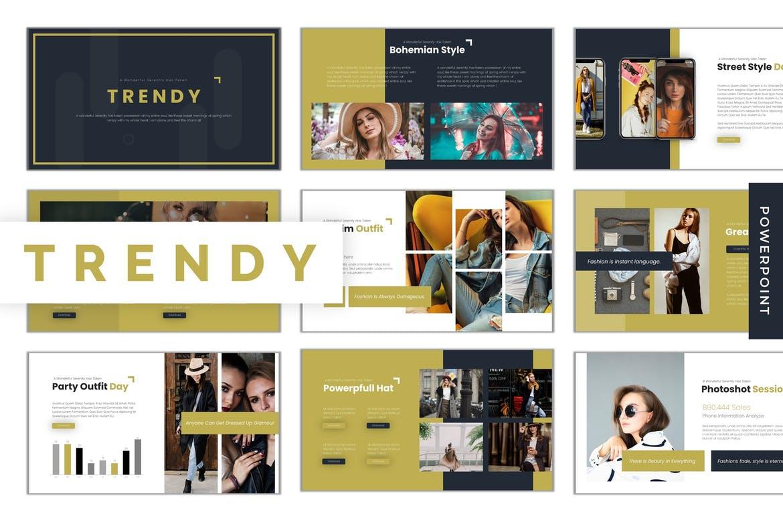Trendy-大气简约金色Powerpoint模板PPT模板