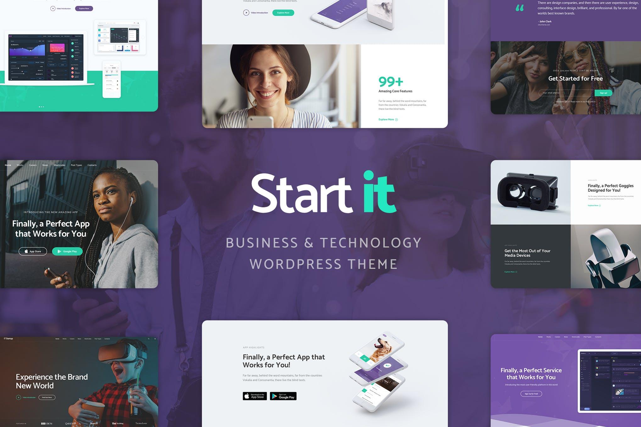 Start It - APP产品介绍WordPress主题模板