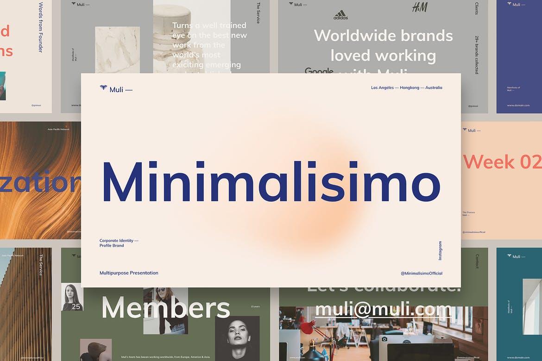 Muli™ Minimalist-个人企业简介介绍PPT模板