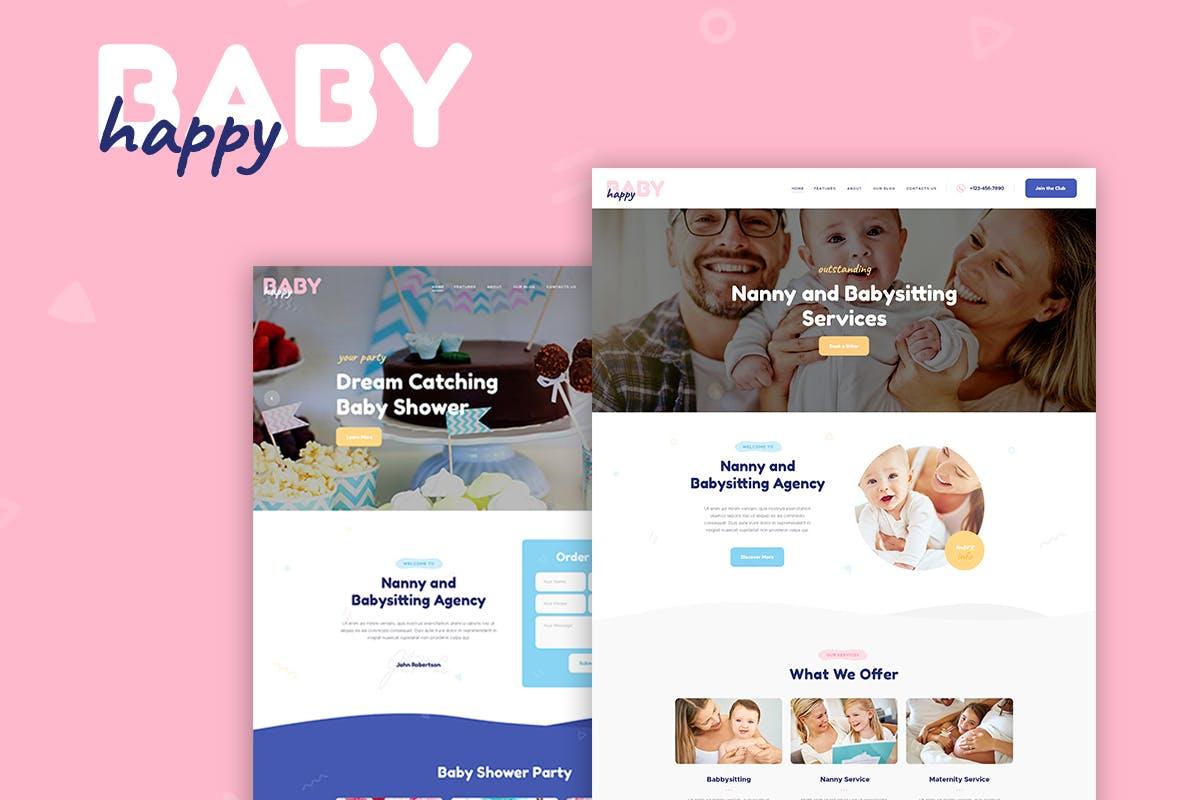 婴儿儿童护理护士保姆WordPress主题模板