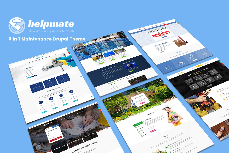 Helpmate - 清洁搬运建筑WordPress主题模板