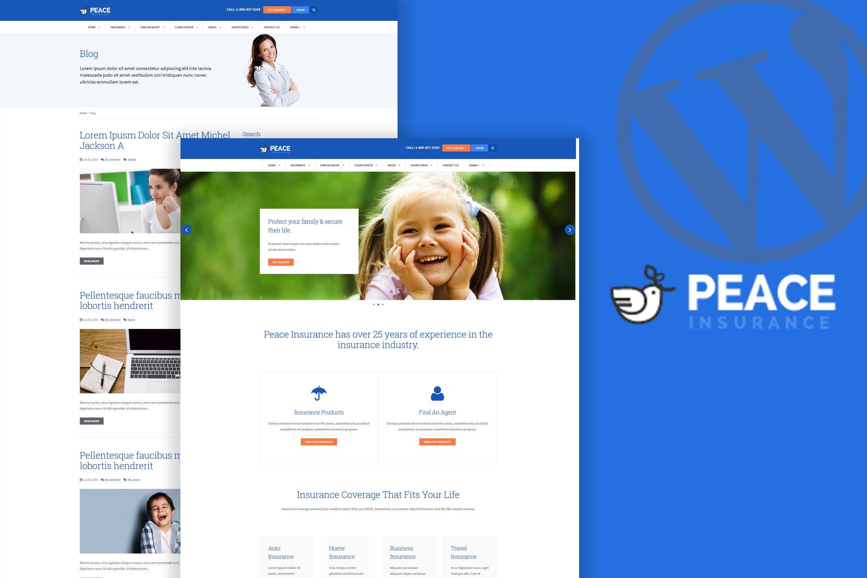 Peace – 金融保险公司WordPress主题模板