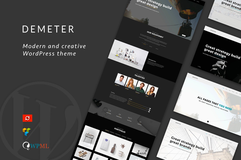 Demeter - 单页创意WordPress主题模板