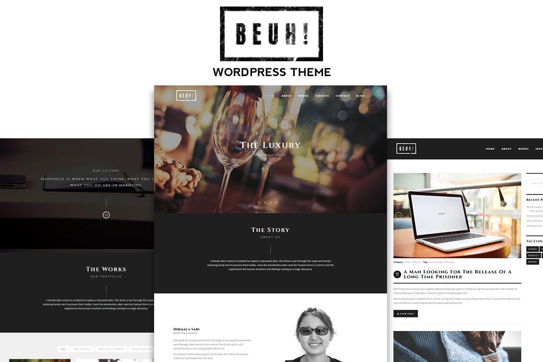 响应式单页多用途WordPress主题模板