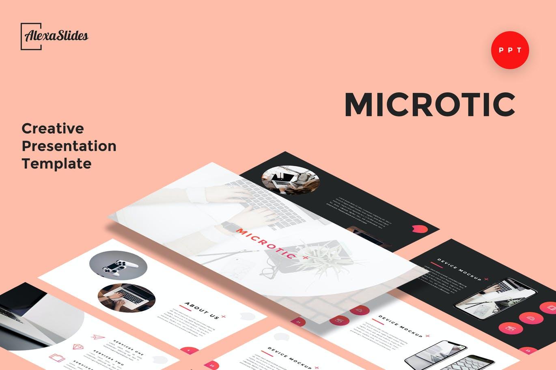 Microtic-课件PPT模板总结PPT模板英文