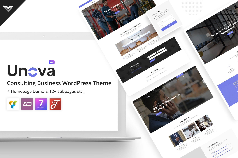 Unova - 企业咨询业务WordPress主题模板