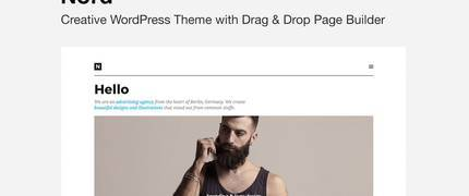 NORD - 内容简洁大图WordPress主题模板