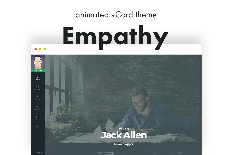 Empathy - 时尚动画博客WordPress主题模板