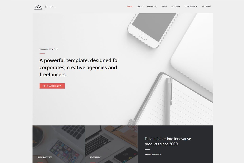 Altius - 多用途企业模块化WordPress主题模板