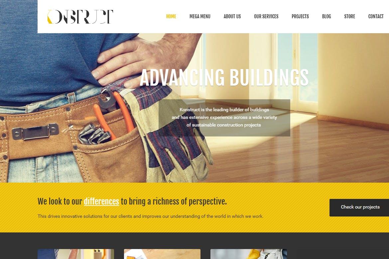 Konstruct - 建造建筑公司HTML5纯静态网站模板