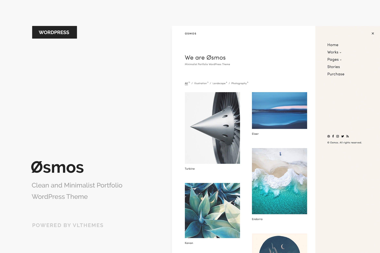 Osmos - 简洁作品相片画册WordPress主题模板