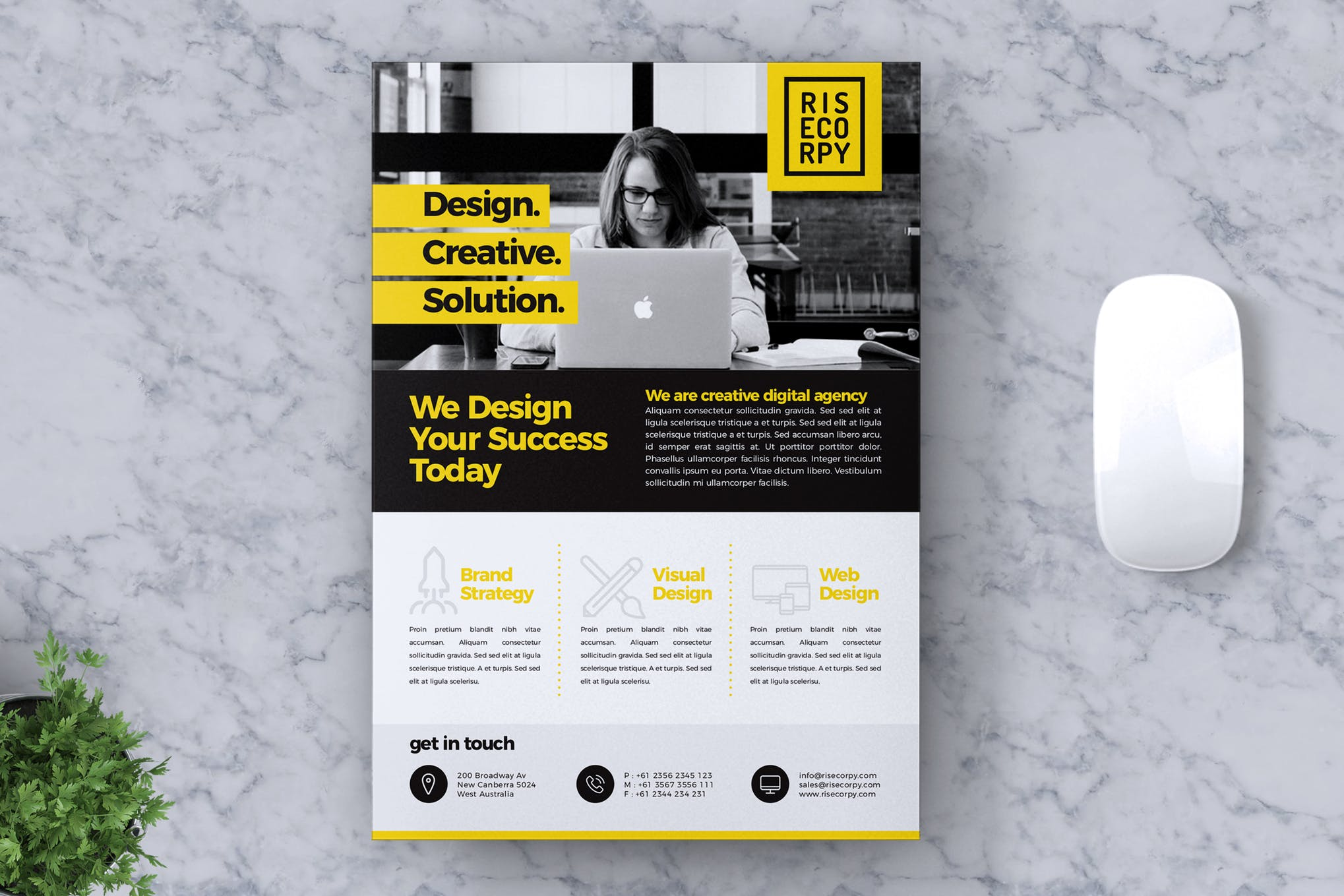 创意企业传单A4海报