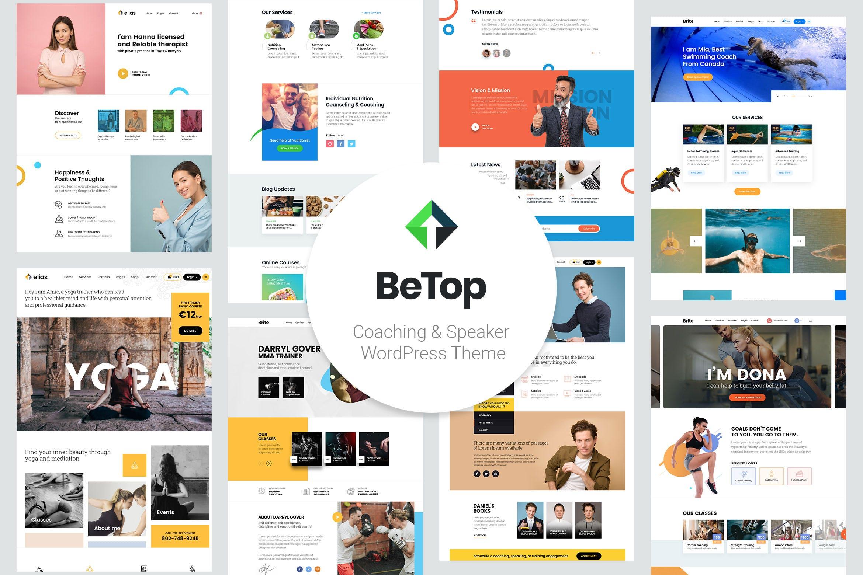 BeTop – 商务瑜伽健康教练WordPress主题模板