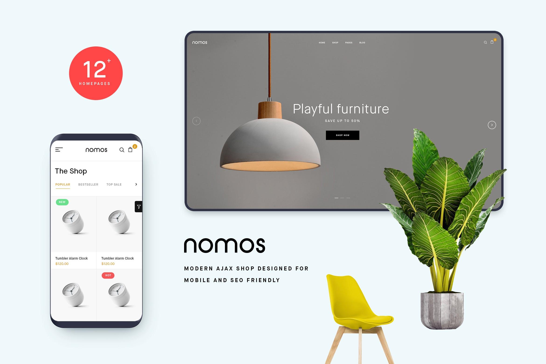 Nomos - AJAX手机无线商店WordPress主题模板