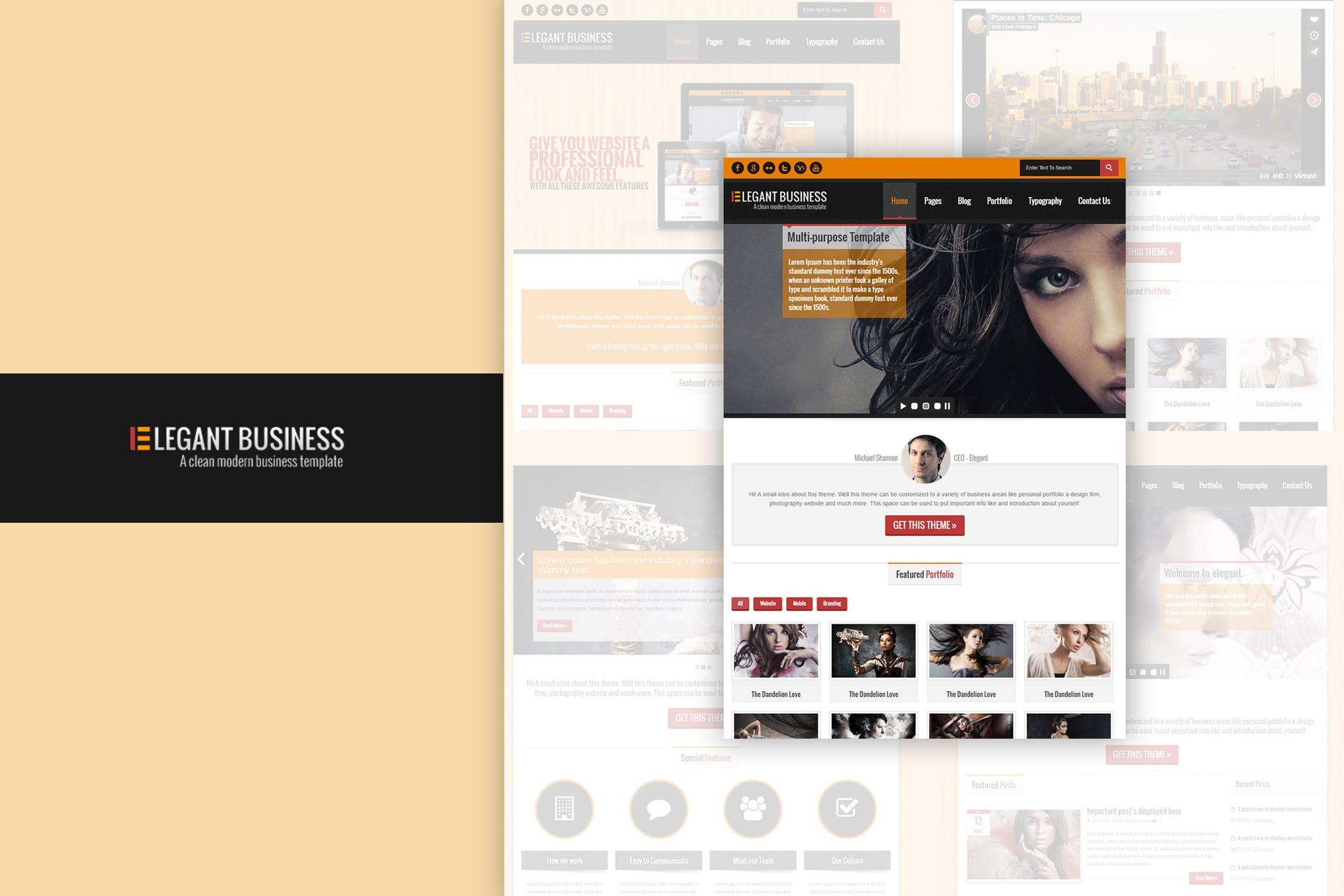 Elegant Business - 响应式HTML网页H5模板