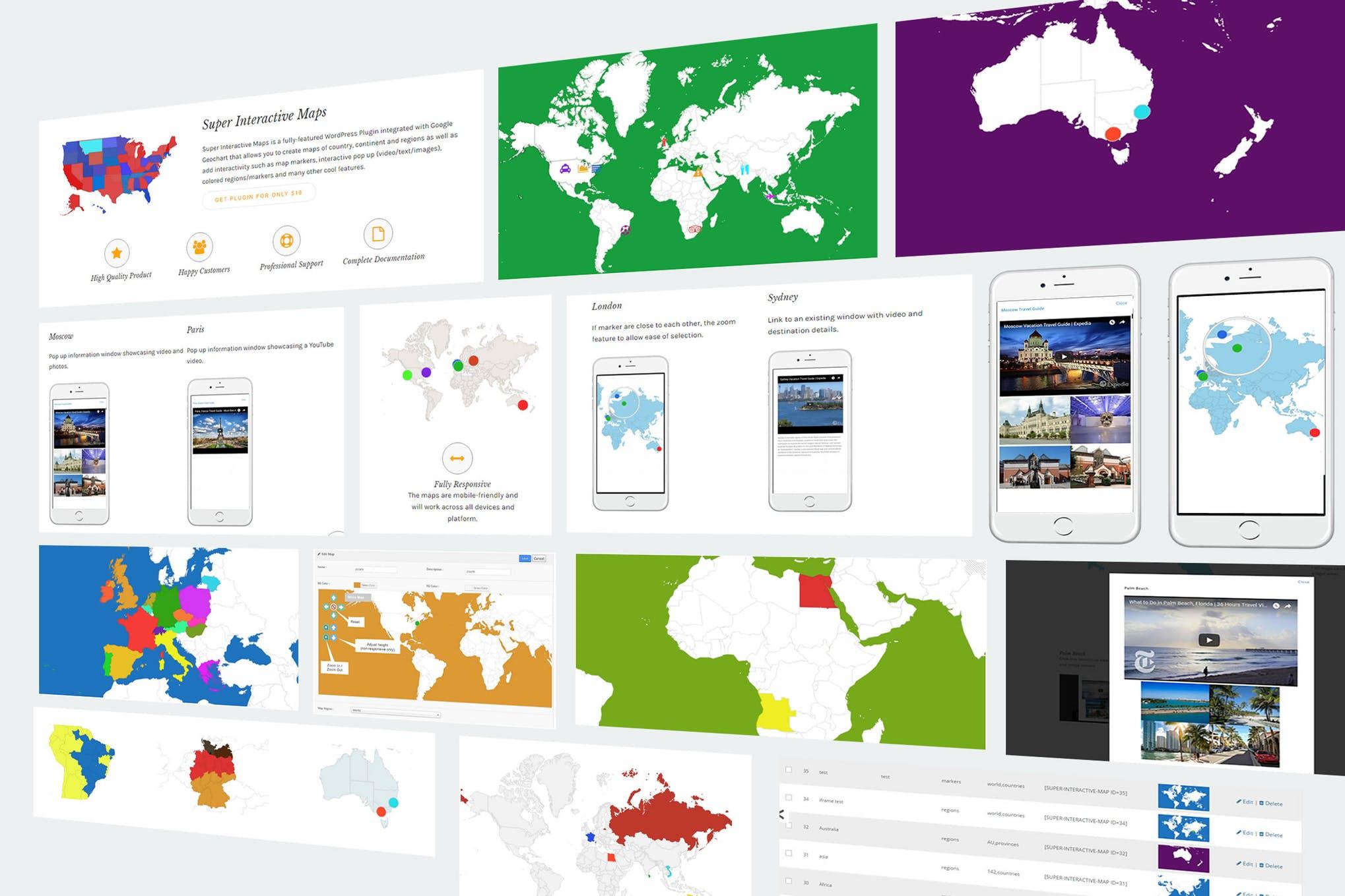 交互自定义位置地图WordPress插件