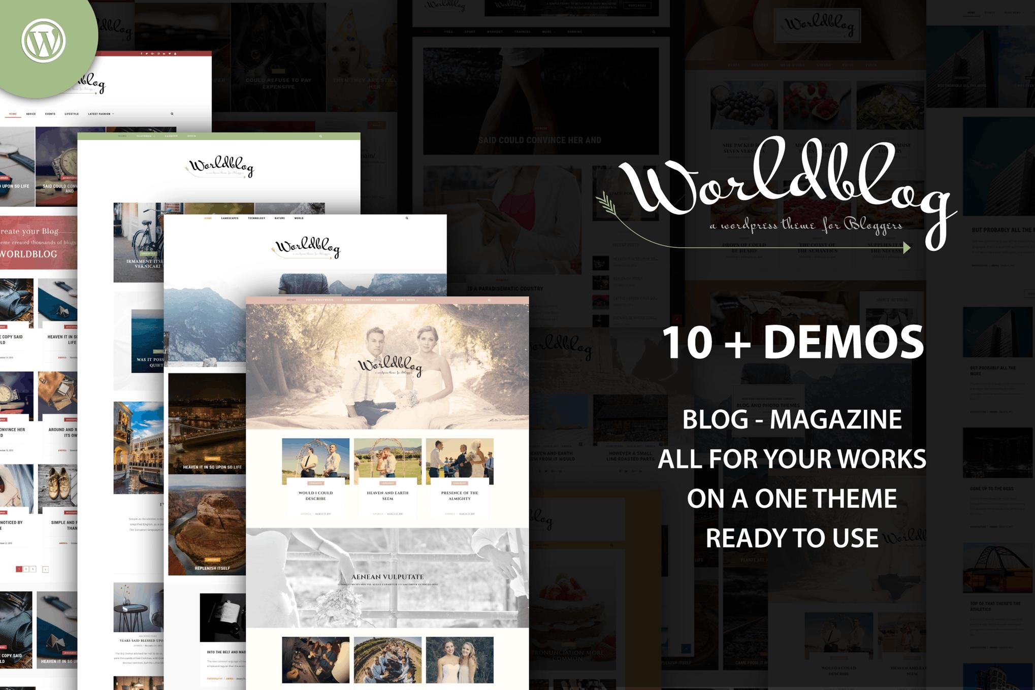 Worldblog - 博客杂志WordPress主题模板