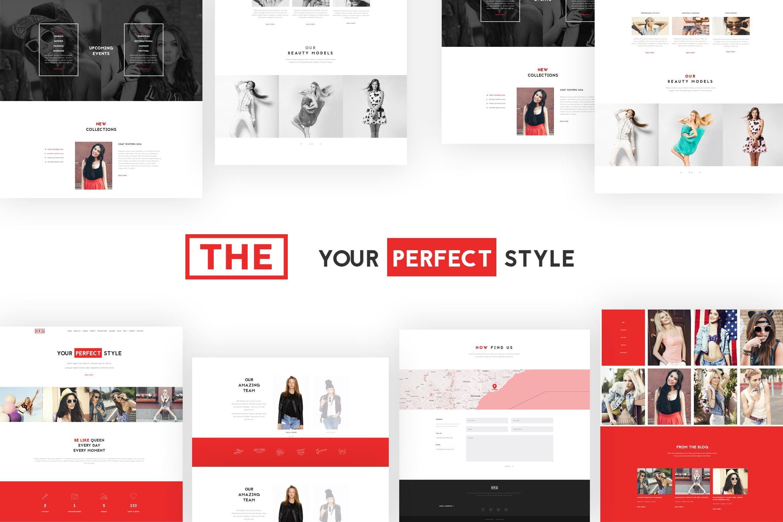 单页模特经纪服装品牌WordPress主题模板