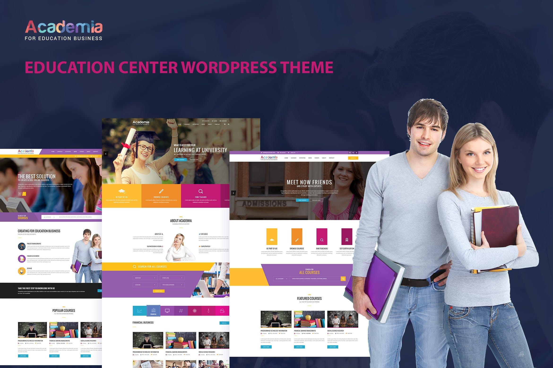 Academia - 教育课程文字新闻WordPress主题模板