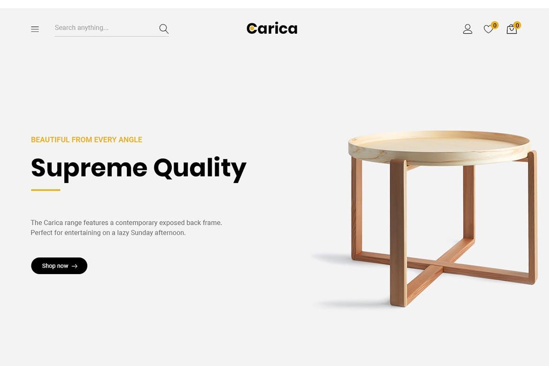 Carica  - 家具手工制作商城WordPress主题模板