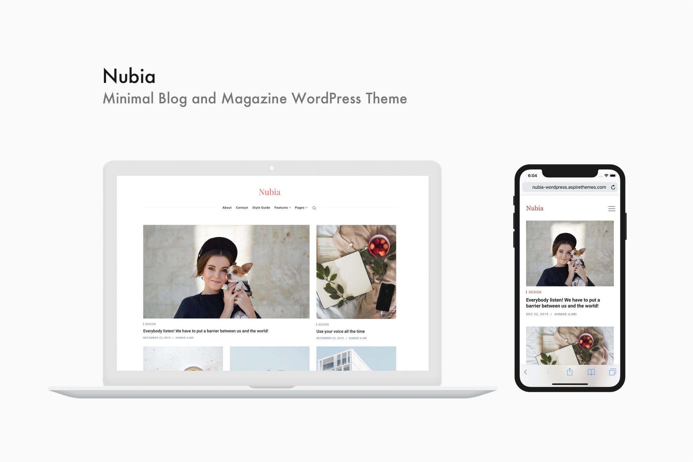 Nubia - 简洁个人博客杂志WordPress主题模板
