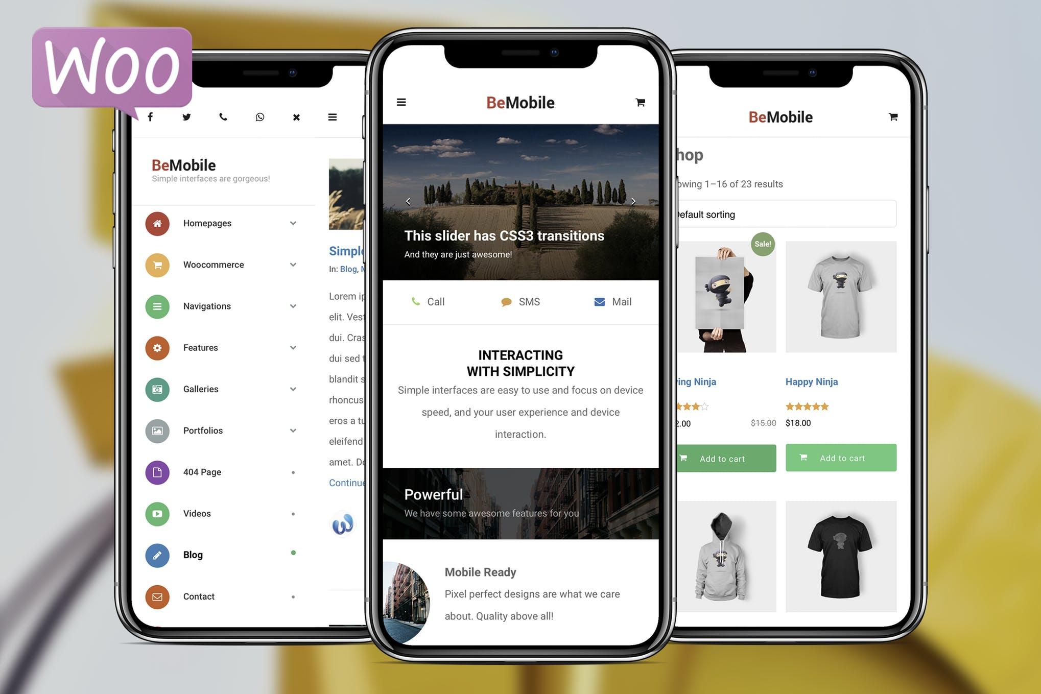 Be Mobile - 纯移动手机商城WordPress主题模板